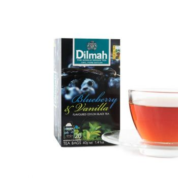 Dilmah Blueberry and Vanilla flavored (Foil) 20 Tea Bags Serendib Store