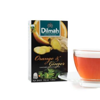 Dilmah Passion Fruit, Pomegranate and Honeysuckle flavored (Foil) 20 Tea Bags Serendib Store